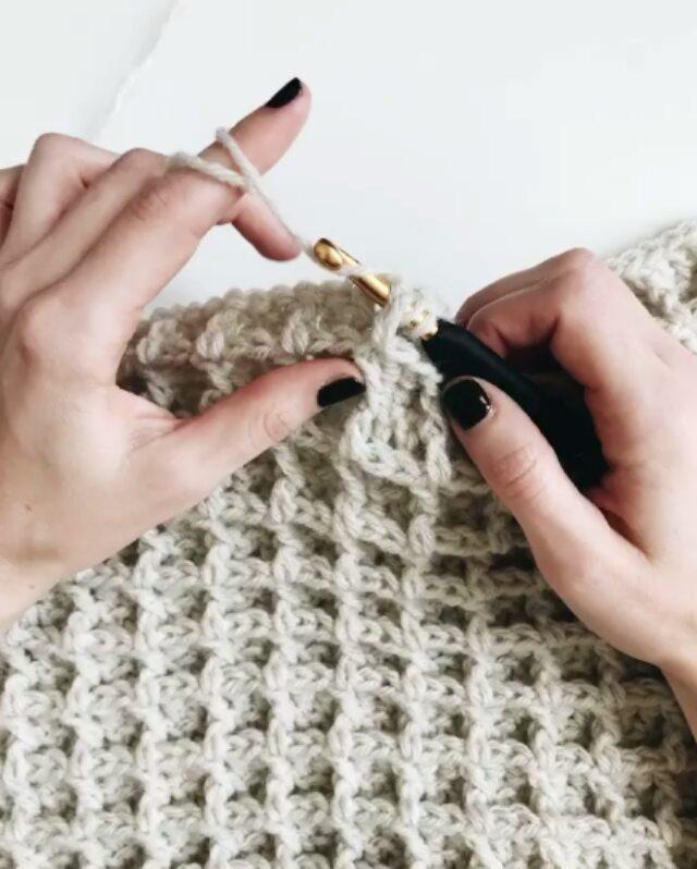 How To Knit Waffle Stitch
