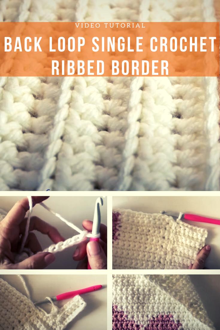 Back Loop Single Crochet Ribbed Border