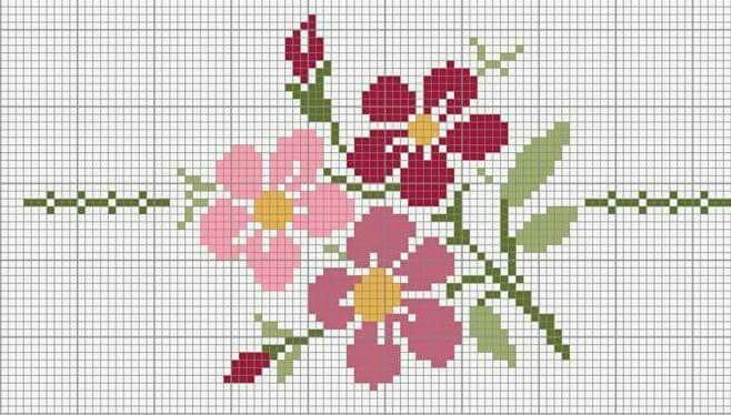 Flowers Cross-Stitch Pattern