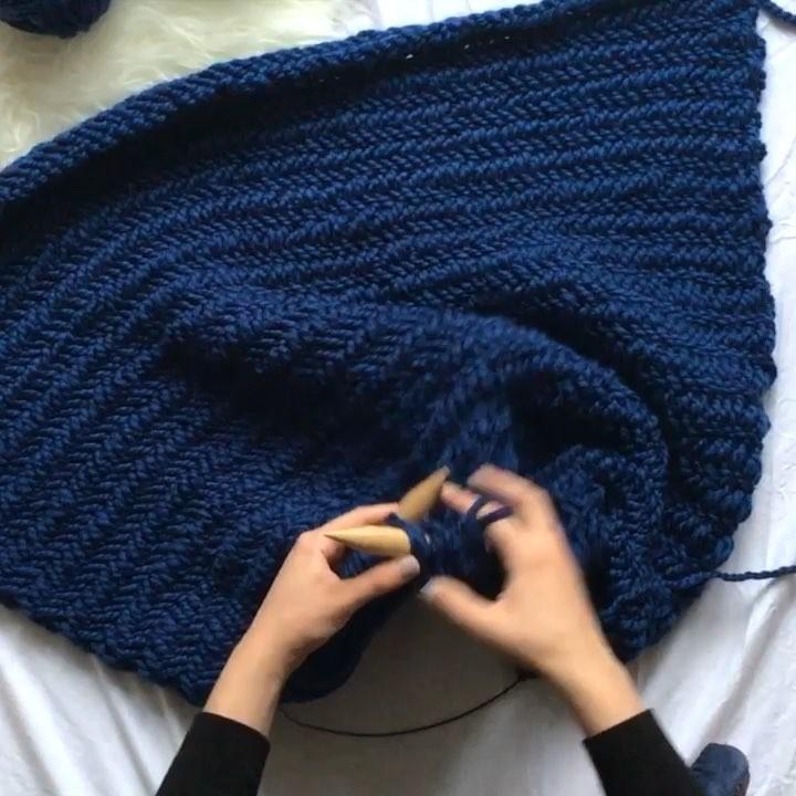 How To Knit Herringbone Blankets