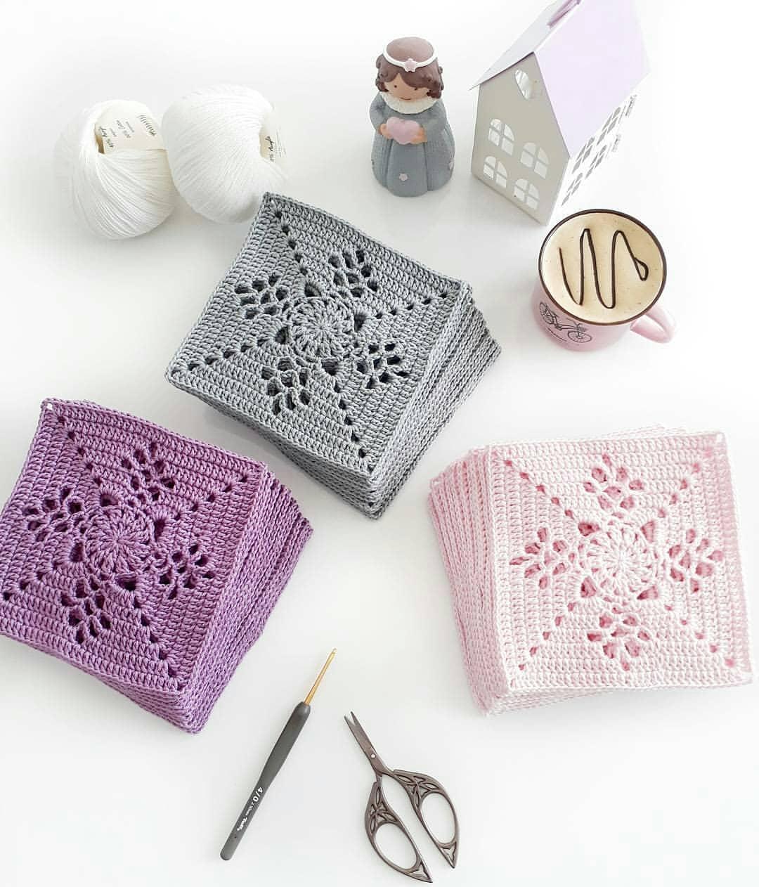 Grannysquare Pattern For Blanket