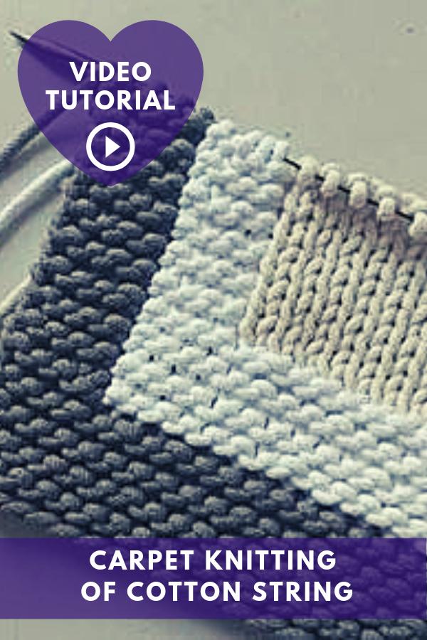 Carpet Knitting Of Cotton String