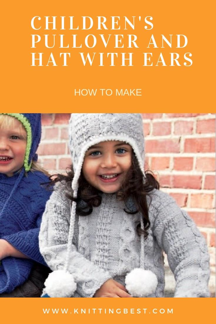 Children's Pullover And Hat With Ears