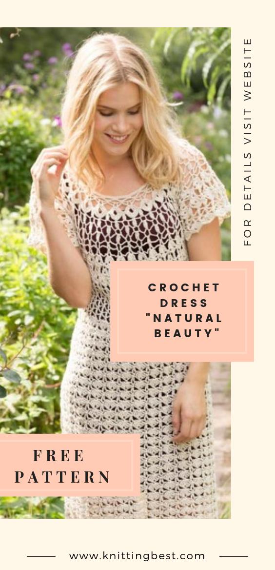 """Crochet dress """"Natural Beauty"""""""