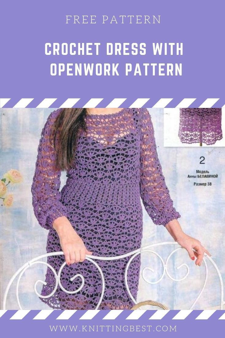 Crochet Dress With Openwork Pattern