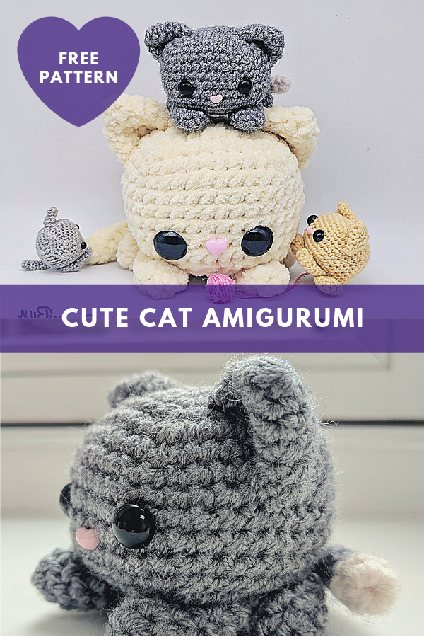 Cute Cat Amigurumi [Free Pattern]