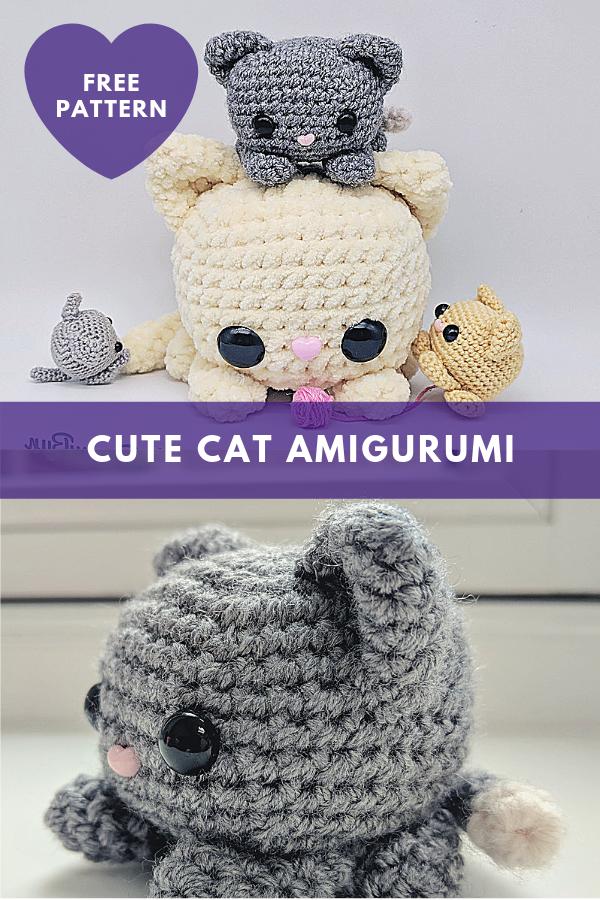 Cute Cat Amigurumi [Free Pattern]