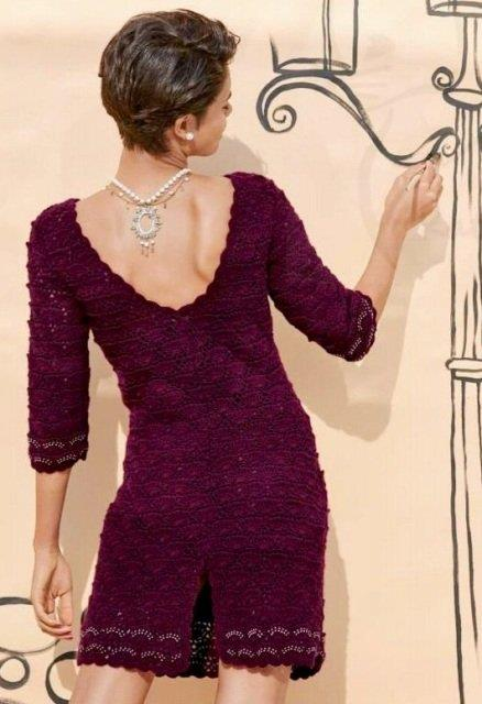 Description Of Knitting Dress