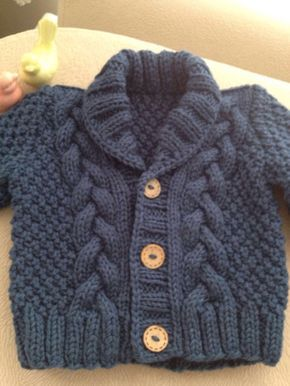 Knit Baby Sweater Hand Knitte