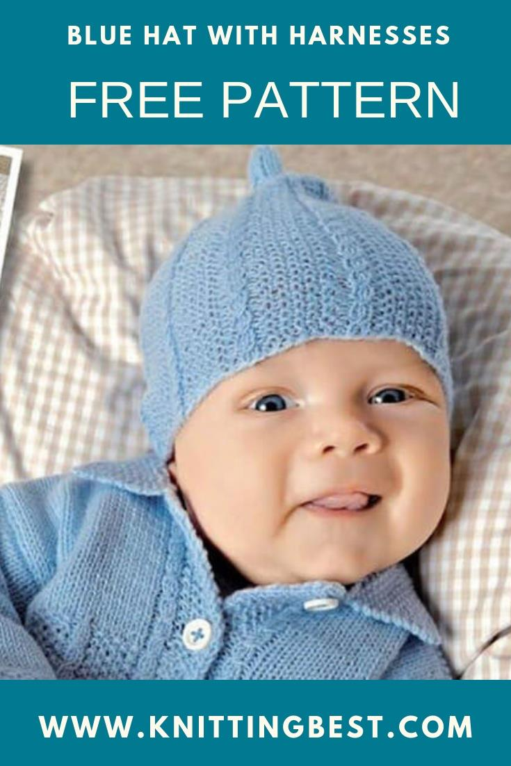Free Pattern Blue Hat With Harnesses