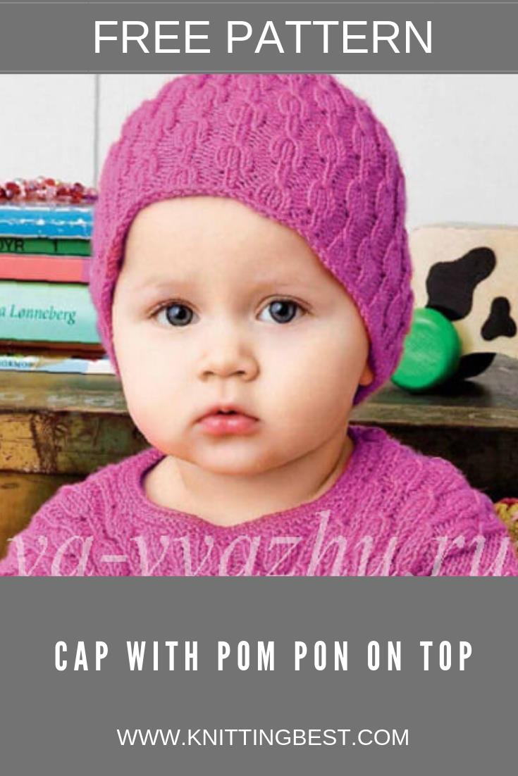 Free Pattern Cap with Pom Pon On Top