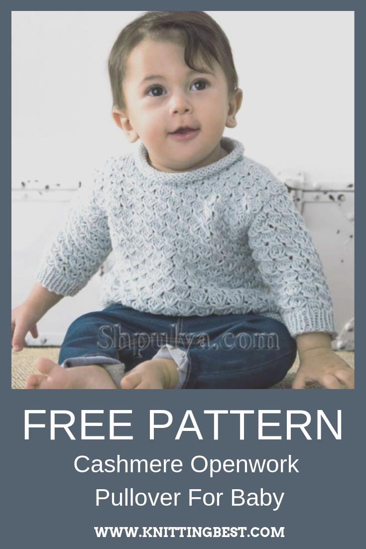 Free Pattern Cashmere Openwork Pullover For Baby