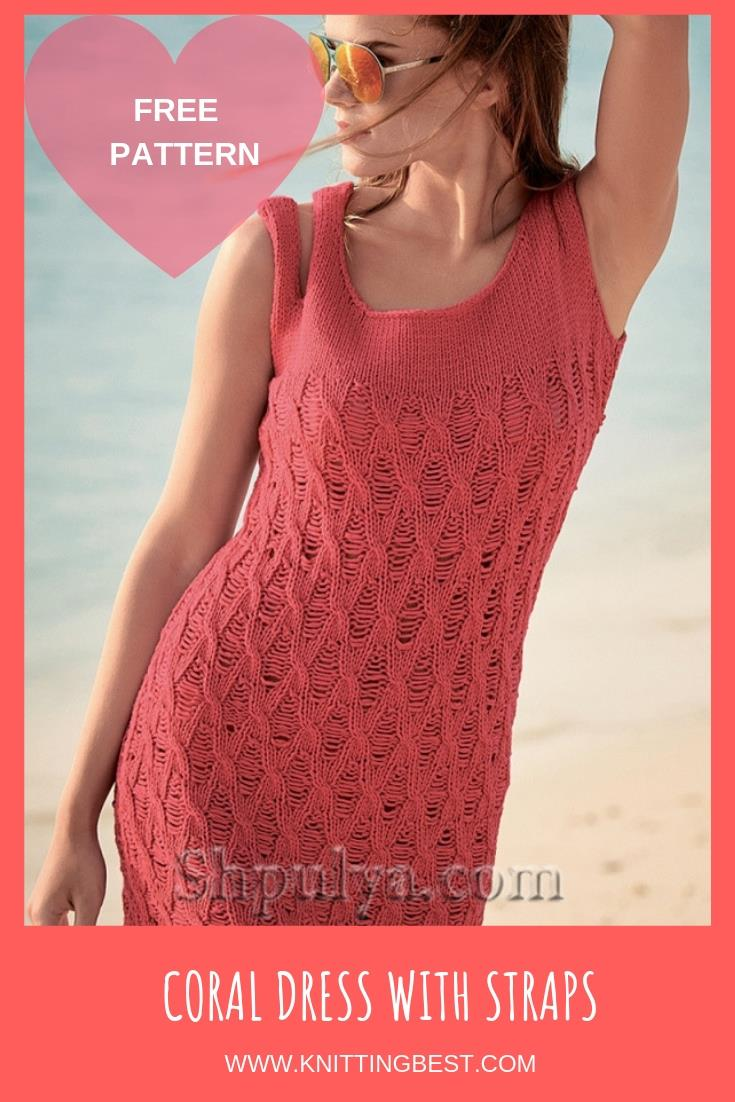 FREE PATTERN CORAL DRESS WITH STRAPS