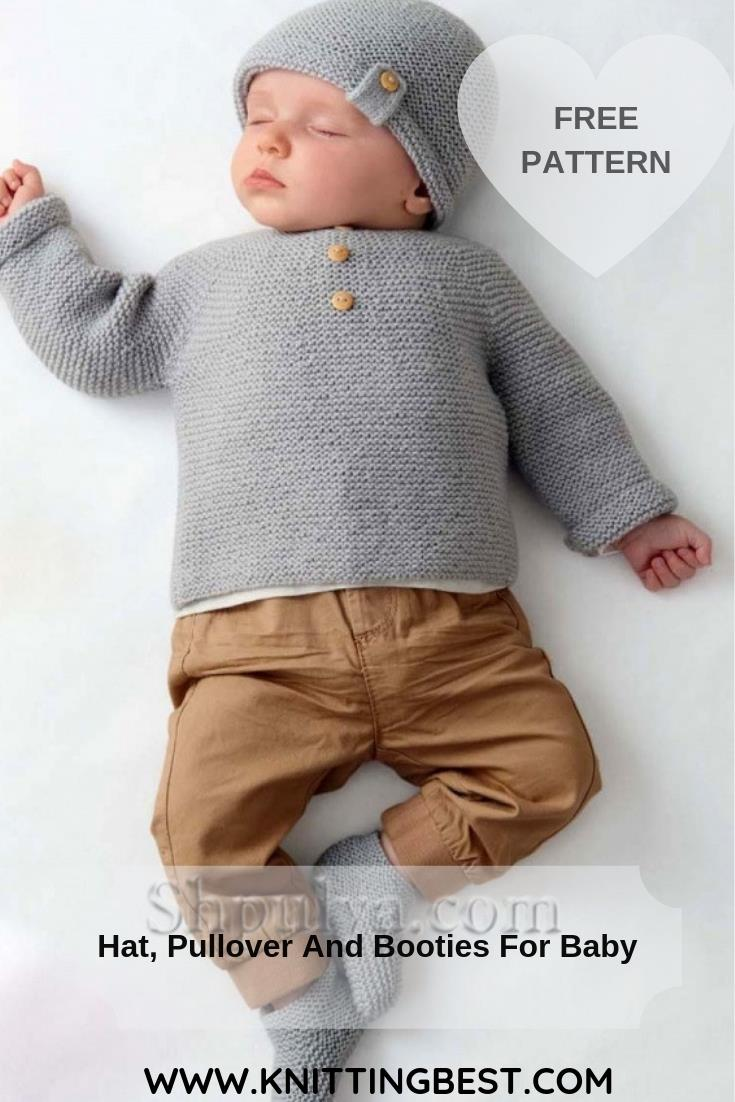 Free Pattern Hat, Pullover And Booties For Baby