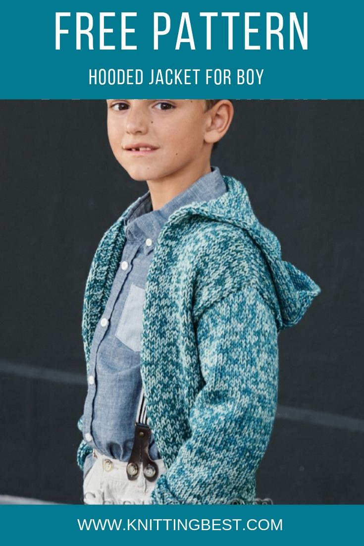 Free Pattern Hooded Jacket For Boy