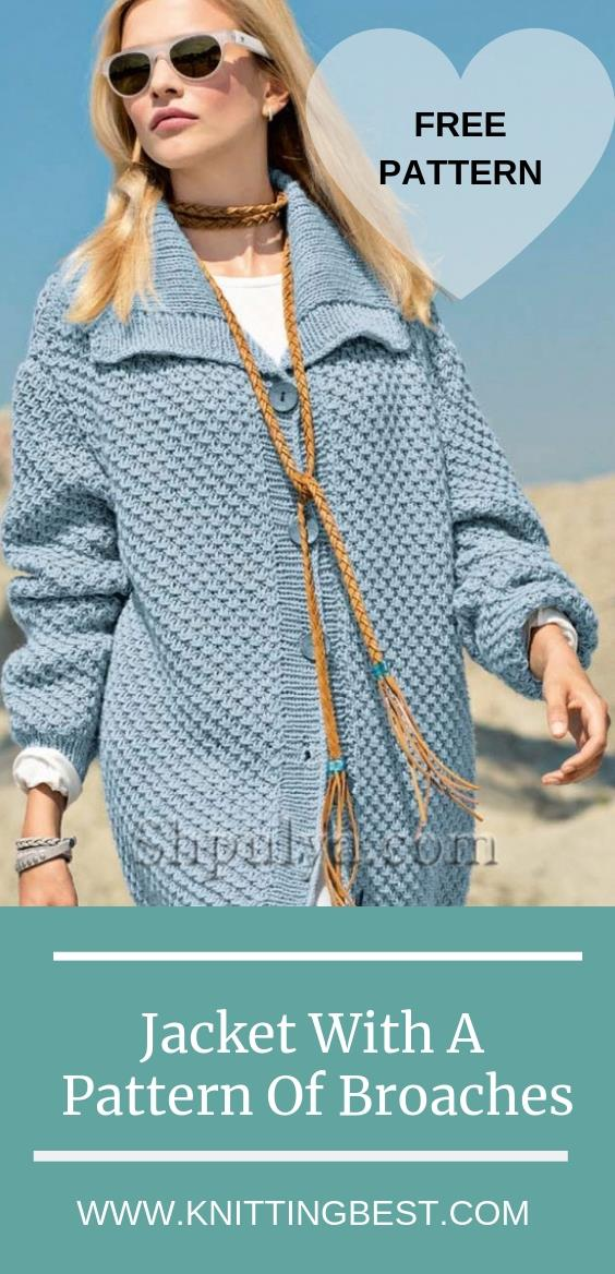Free Pattern Jacket With A Pattern Of Broaches