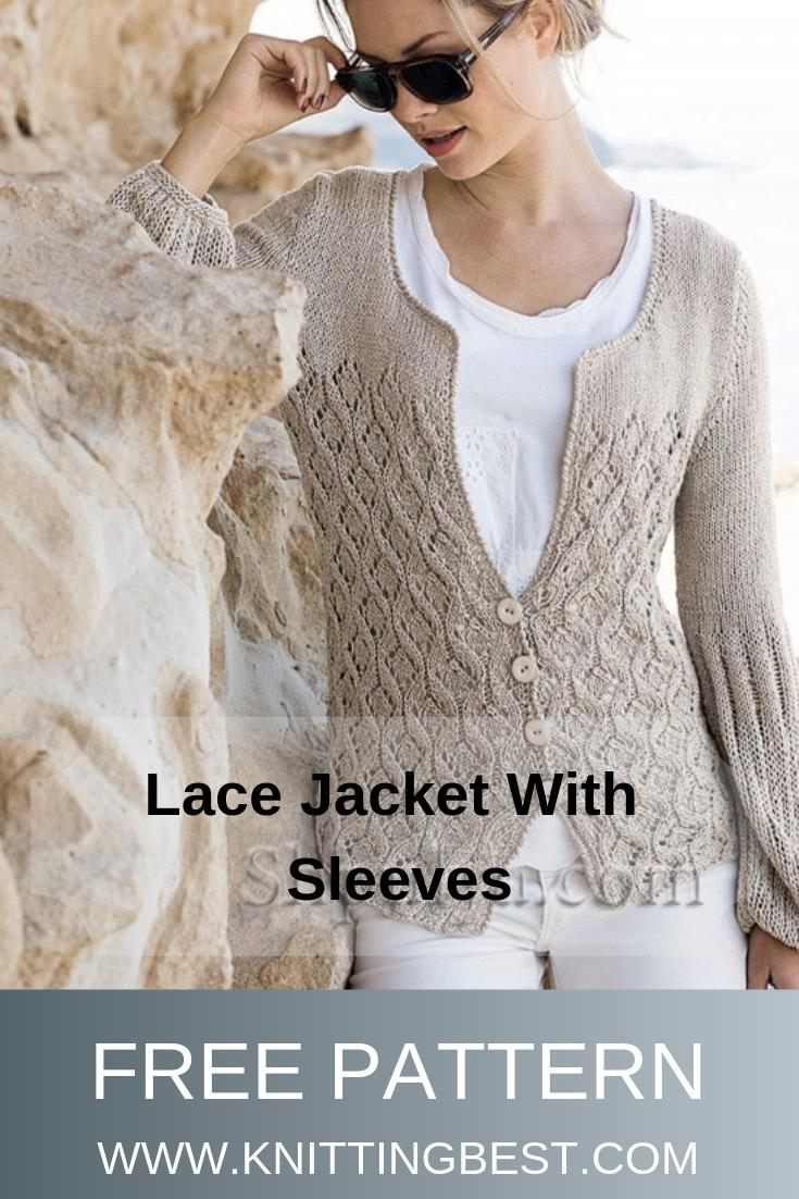 Free Pattern Lace Jacket With Sleeves