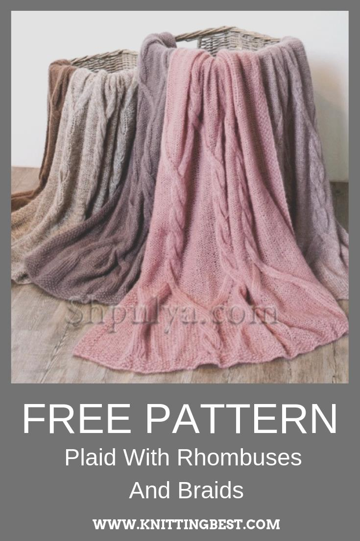 Free Pattern Plaid With Rhombuses And Braids
