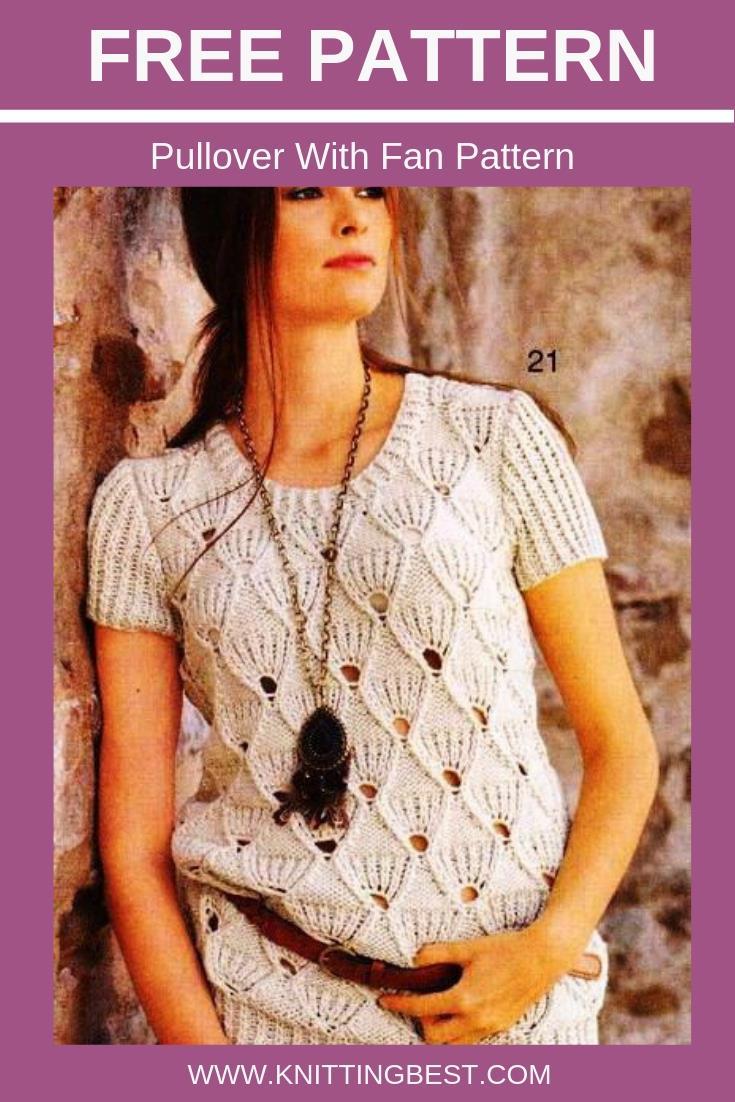Free Pattern Pullover With Fan Pattern