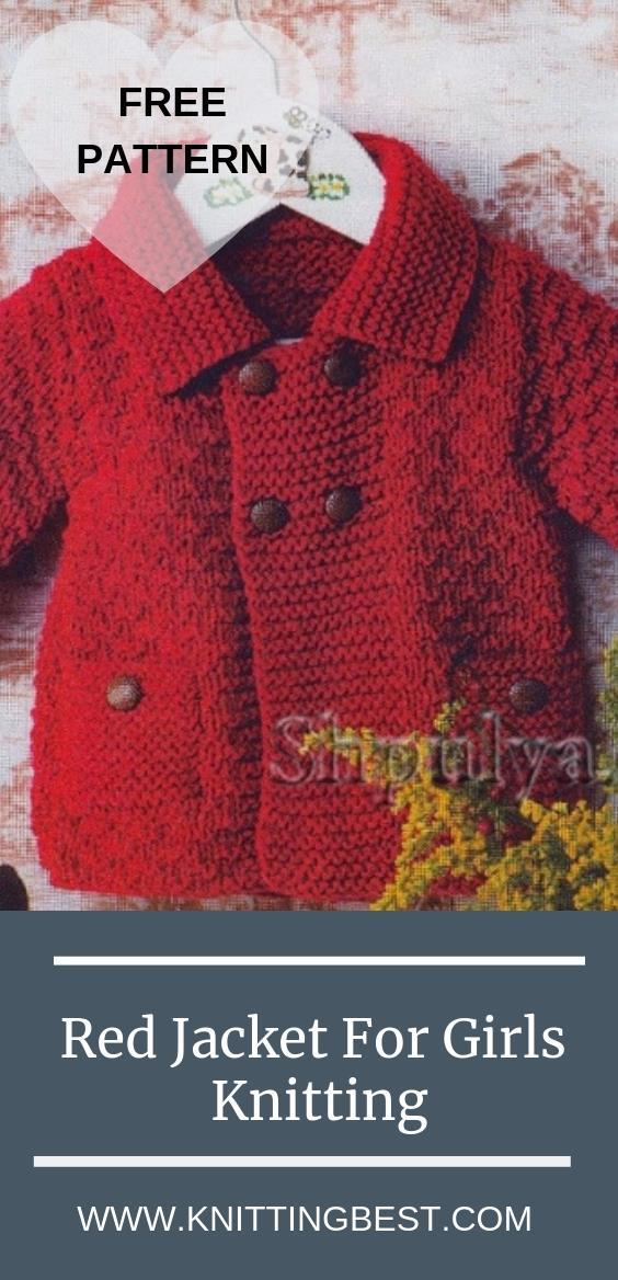 Free Pattern Red Jacket For Girls Knitting