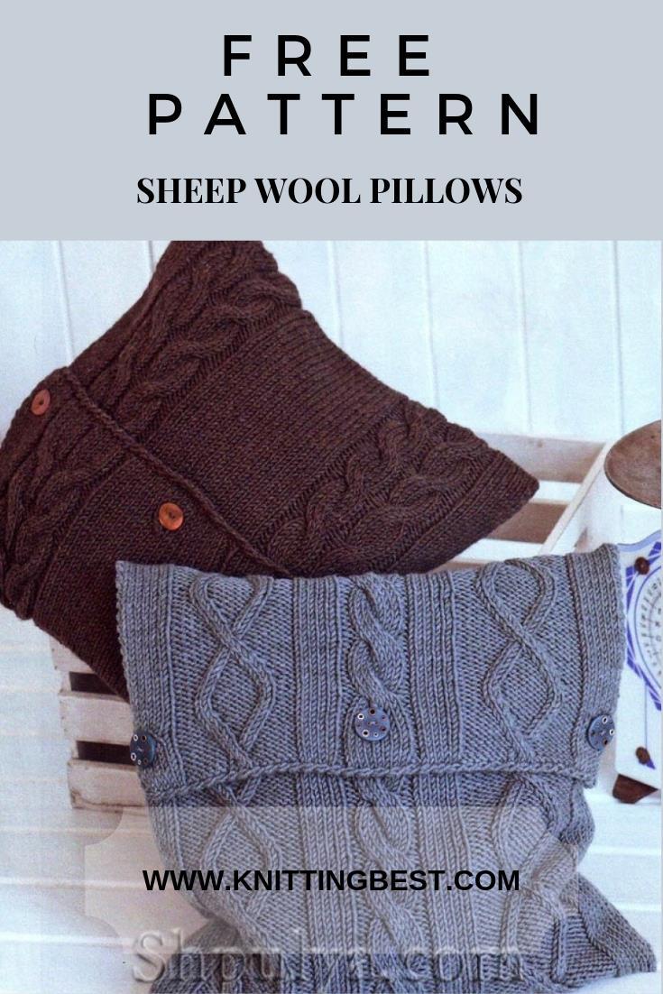 Free Pattern Sheep Wool Pillows