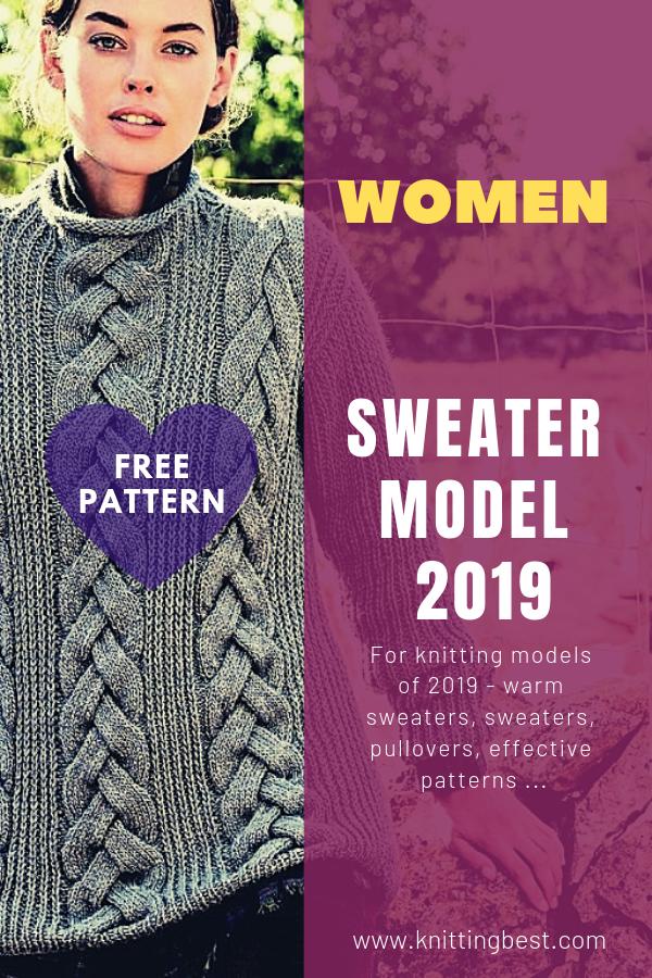 Free Pattern Sweater Model 2019