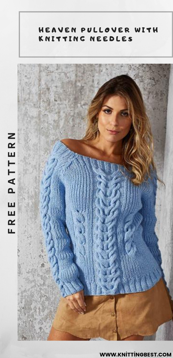 Heaven Pullover With Knitting Needles