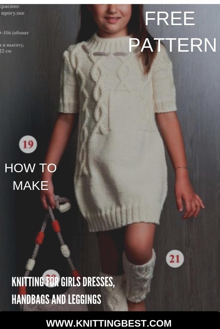 How To Make Knitting For Girls Dresses, Handbags And Leggings