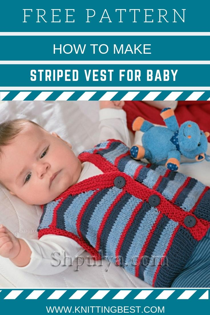 How To Make Striped Vest For Baby