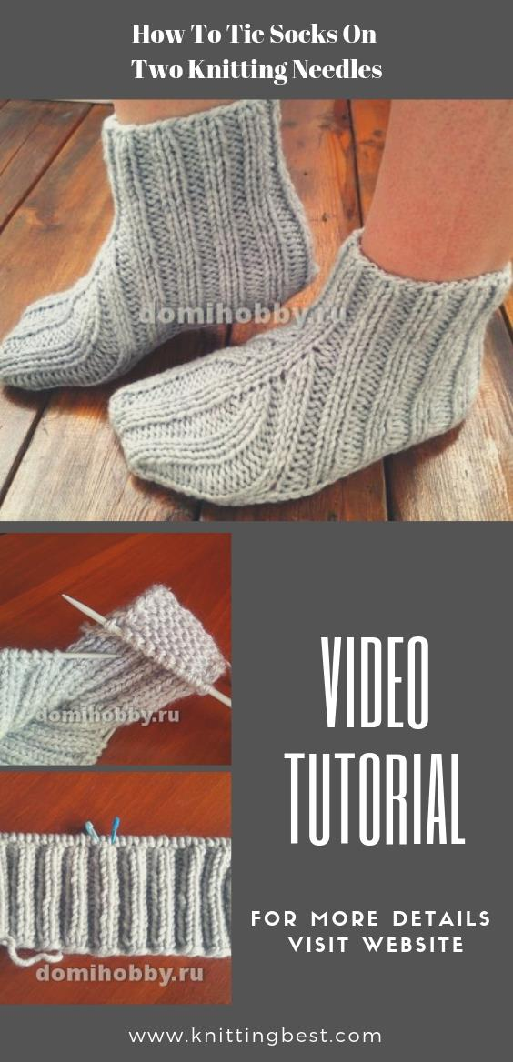How To Tie Socks On Two Knitting Needles
