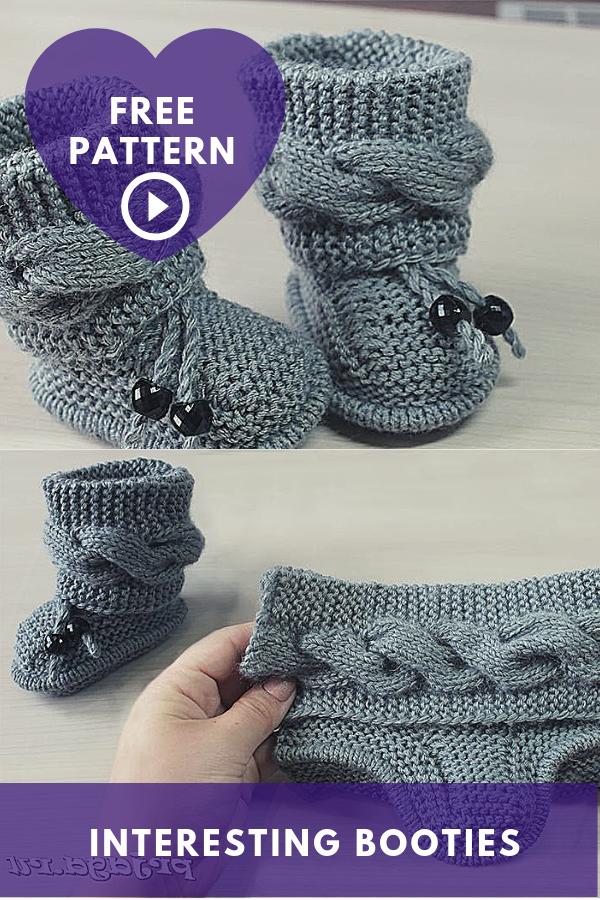 Interesting Booties Knitting