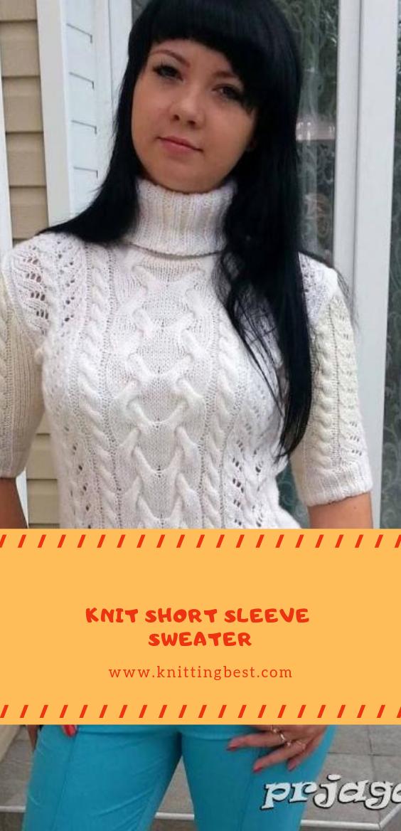 Knit Short Sleeve Sweater