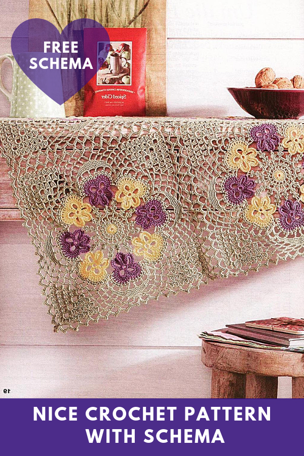 Nice Crochet Pattern with Schema