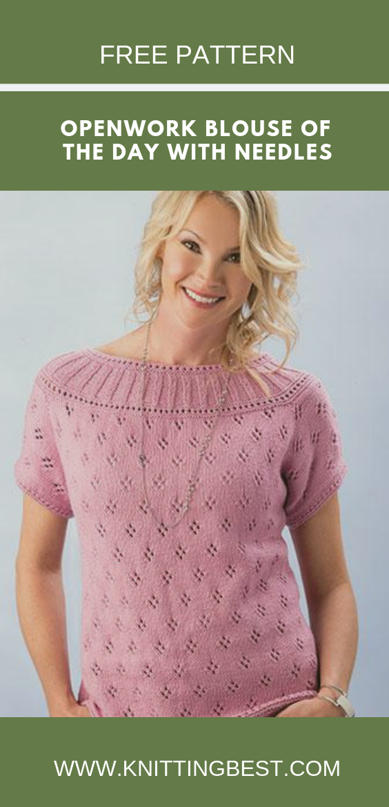 Openwork Blouse Of The Day With Needles