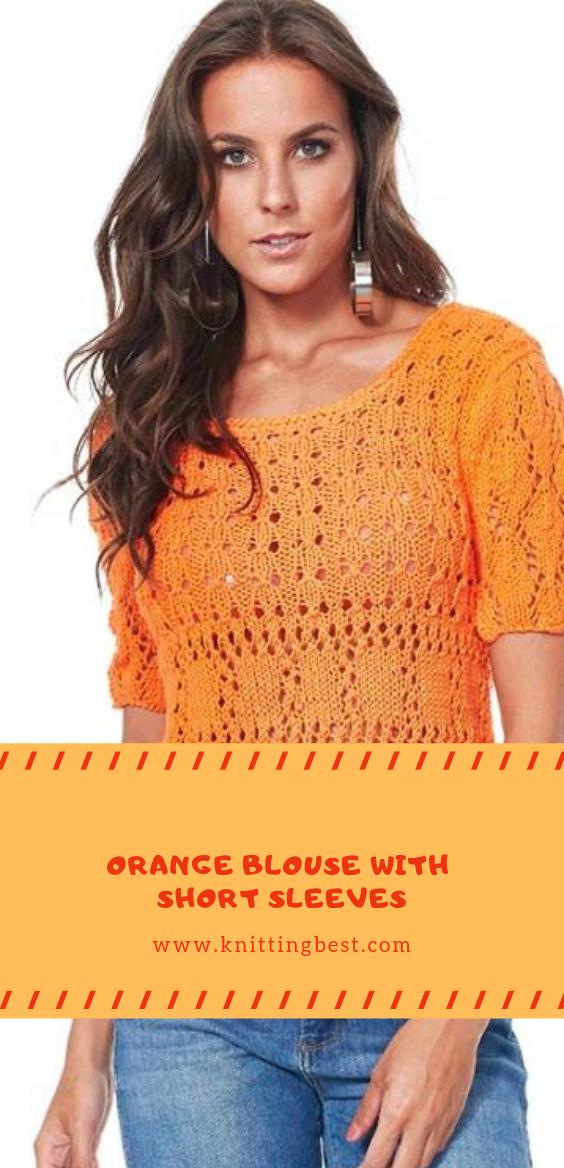 Orange Blouse With Short Sleeves