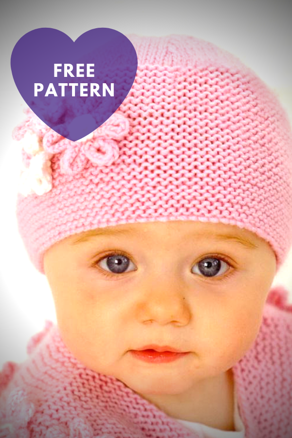 Pink Baby Hat with Flowers