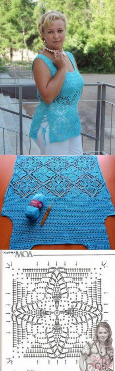 Crochet Woman T-Shirt