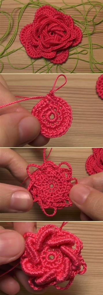 Knitting rose