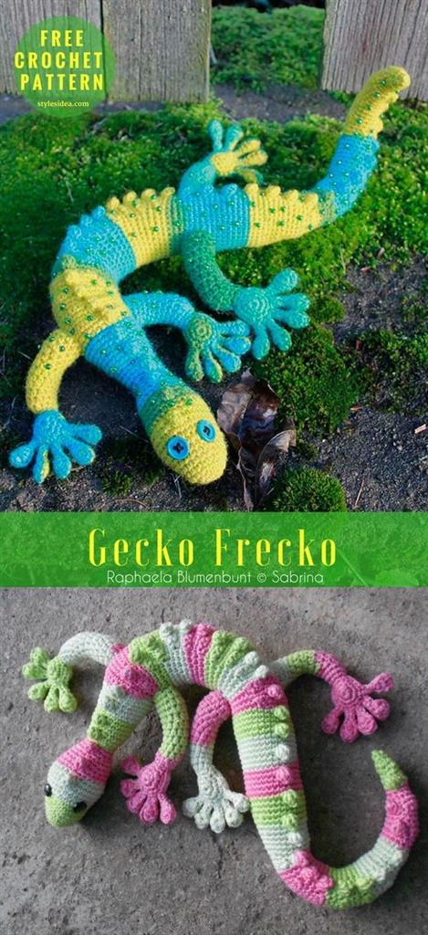 Animal With Knitting-Gecko Frecko