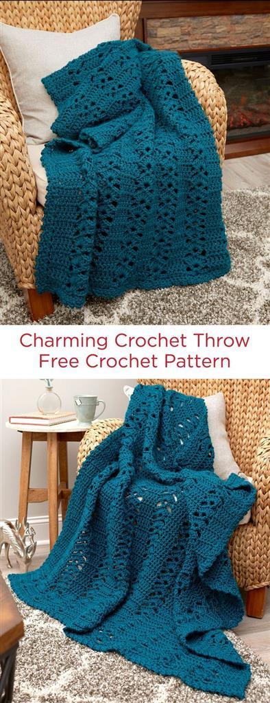 Charming Crochet Throw