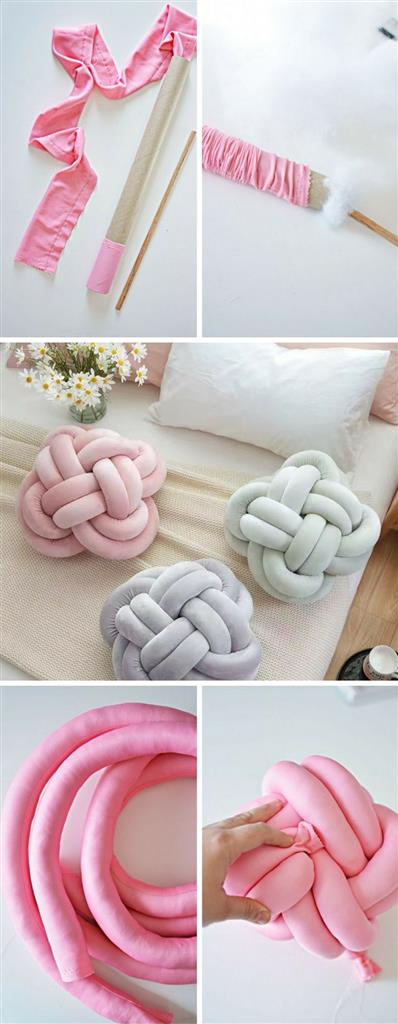 Do It Yourself Knot Pillow