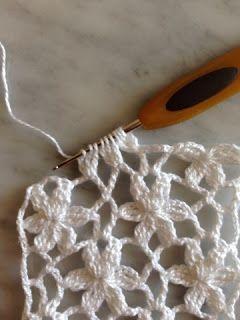 Crochet Flower Dot Chart