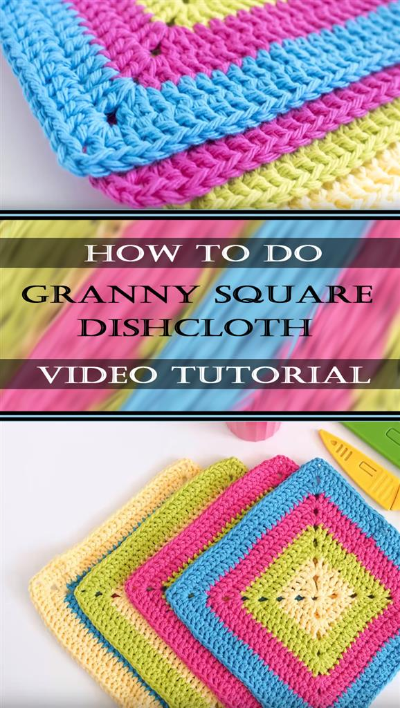 Granny Square Dishcloth Pattern Tutorial