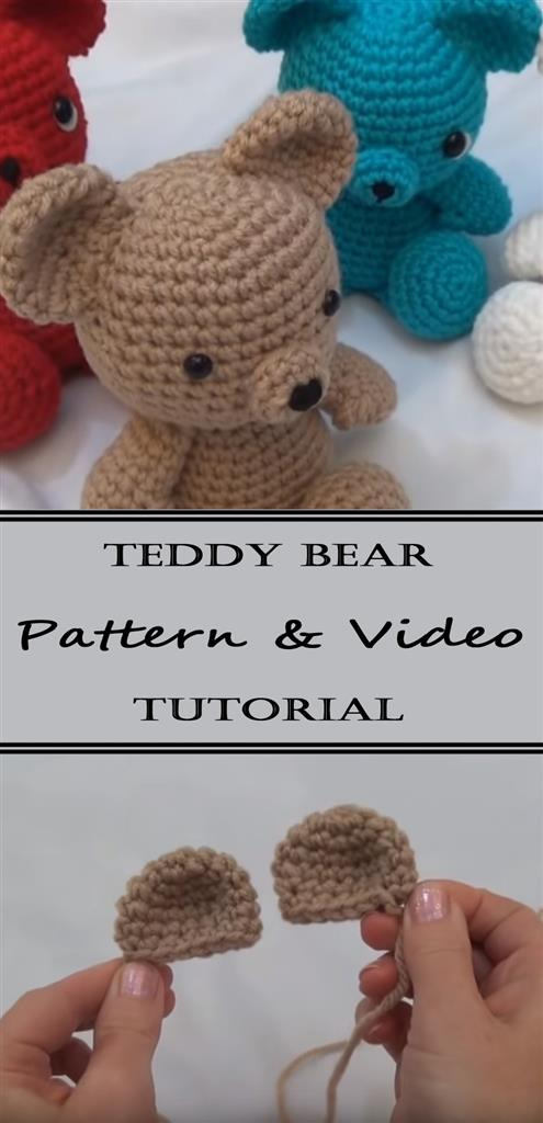 Teddy Bear Pattern and Video Tutorial