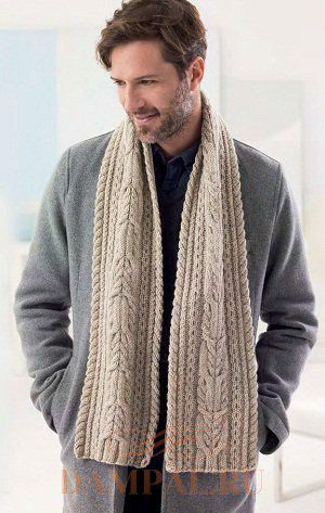 Mens knitted scarves and hats