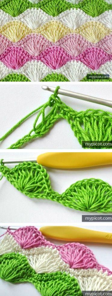 Crochet Long Loop Shell Stitch