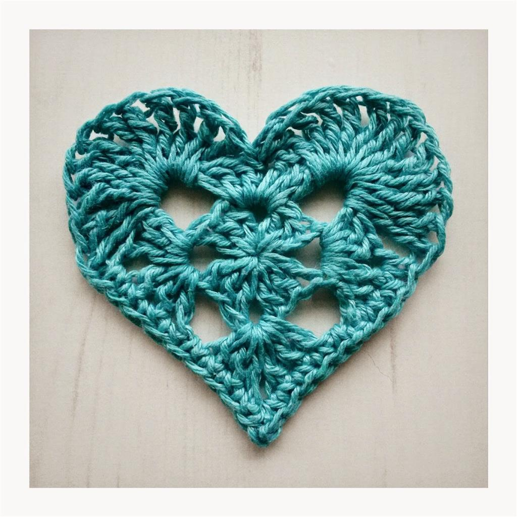 Granny Heart Crochet for Valentine's Day