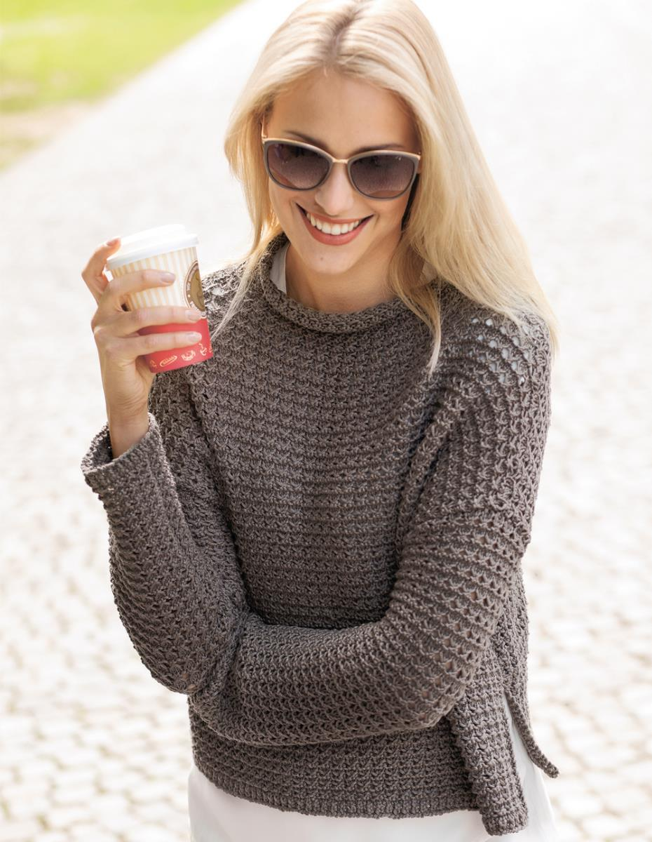 SIZELESS SWEATER WITH STAND-UP
