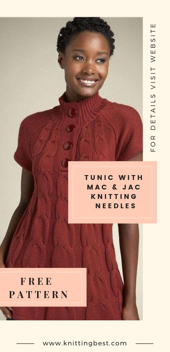 Tunic With Mac & Jac Knitting Needles