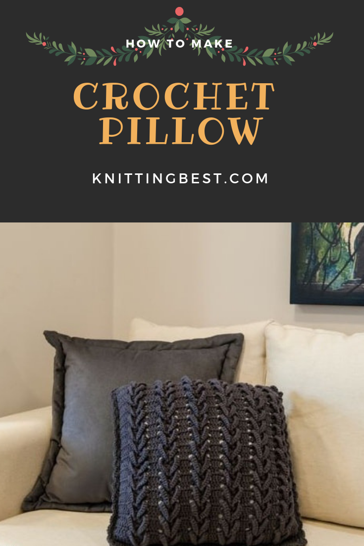 Very beautiful crocheted interior pillow